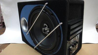 高雄震撼立~ 12吋 400W -毒蠍-主動式超低音喇叭~ 含重低音線組包、全新特價
