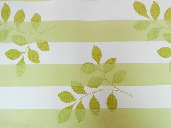 壁貼工場-可超取 壁貼 自黏壁紙 寬45cm*1000cm  背膠牆紙 背膠壁紙 綠色葉紋條紋 JK029