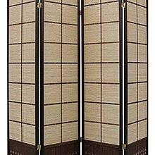 高級木塑板實木框竹簾屏風(兩色可選)
