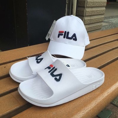 三葉草之家FILA 特價 拖鞋 防水 一體成型 白色 復古 基本款 海邊 4-S355Q113 男女款
