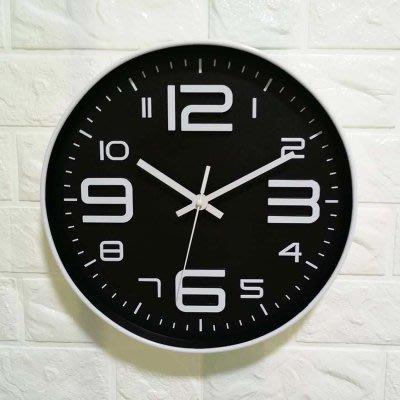 尼克卡樂斯~北歐經典黑色大數字掛鐘 靜音時鐘 工業風掛鐘 歐洲鄉村風時鐘 客廳時鐘 臥室時鐘 壁掛鐘