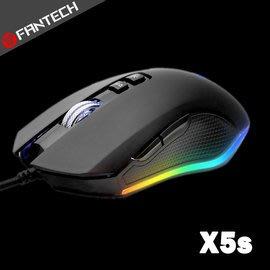 【風雅小舖】【FANTECH X5s RGB燈效金屬滾輪專業電競遊戲滑鼠】四檔變速/4800dpi高分辨率/6個自定按鍵