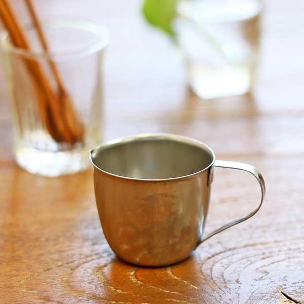《散步生活雜貨-廚房散步》日本進口 Moda -Twin Ray 自然簡約雜貨風 不繡鋼製 復古奶精罐 杯