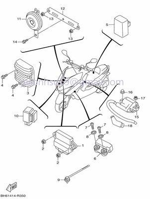 【車輪屋】YAMAHA 山葉原廠零件 FORCE 155 電子零件 車台 車手 支架 周邊相關零件 歡迎詢價
