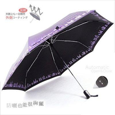 【洋傘職人】城市光廊-抗UV自動傘 (玫瑰紫) / 雨傘防風傘防曬傘抗UV傘折疊傘陽傘洋傘折傘 (免運)