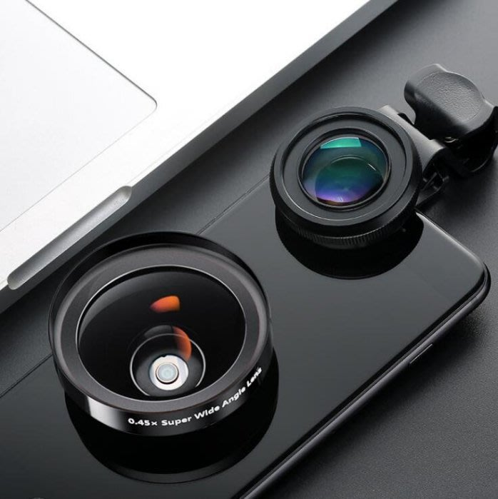 D7-2廣角微距二合一套裝 外置攝像頭 單反lens拍照望遠鏡頭 手機通用鏡頭  4529