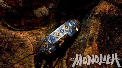 【Monolith】14K金 菱格打印手環 Navajo 台灣職人 手作