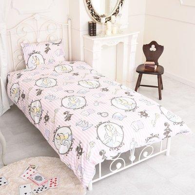 日本代購 迪士尼 disney 愛麗絲夢遊仙境  單人床包 三件組 床單 被套 枕頭套