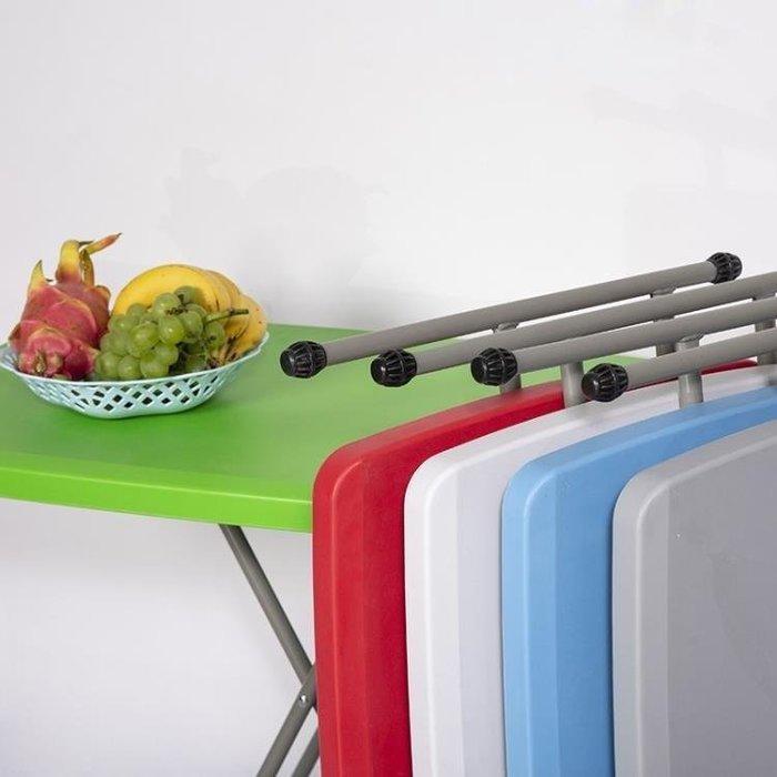 麥麥部落 可折疊桌椅餐桌居居家用2人簡約式式擺攤方桌吃飯小桌子戶外便攜式MB9D8