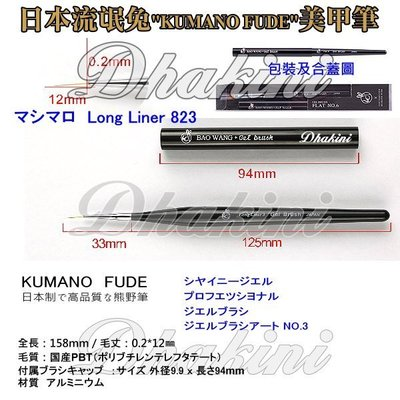 《823日本流氓兔彩繪拉線筆》~熊野系列單支刊登款;高品質、低價格,輕鬆完成美甲藝術創作