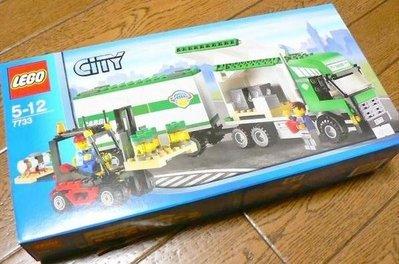 全新未開盒 Lego 7733 Truck Forklift 城市系列 (08年出產)