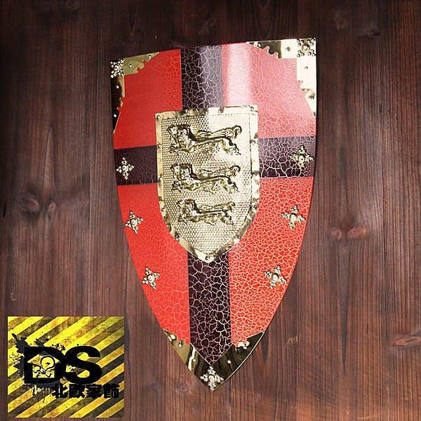DS北歐家飾§loft工業風古羅馬盾牌紅星壁飾掛飾玄關壁掛酒吧仿舊復古美式鄉村 中世紀帝國