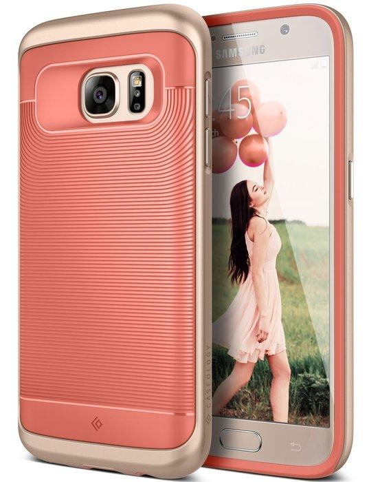 全新 Caseology Samsung 三星 Galaxy S7 Wavelength 矽膠保護套邊框手機殼 粉橘色