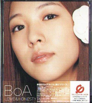 K -BoA - LOVE & HONESTY - CCCD - 日版 CD+DVD+OBI