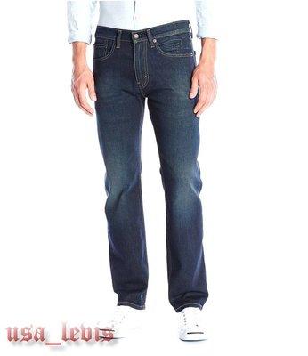 【新款29-42腰優惠】美國獨賣LEVI S 505 Needle Pine 深藍抓皺淺刷經典中直筒牛仔褲 丹寧褲501