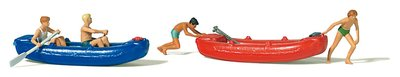 傑仲 (有發票) 博蘭 公司貨 Preiser 人物組 Youths with boats 10705 HO