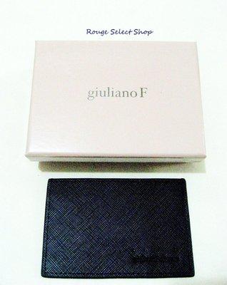 國際精品giuliano Fujiwara 全新皮革壓紋卡夾/名片夾 *現貨NT$1元起標*