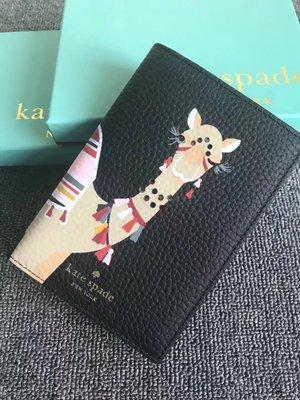 【全新正貨私家珍藏】KATE SPADE 駱駝系列真皮護照夾((2色))Passport Cover