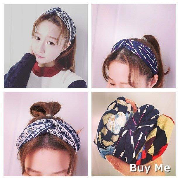 Buy Me  韓國新款交叉造型髮箍  髮帶造型髮箍 個性甜美造型髮飾  多色選擇