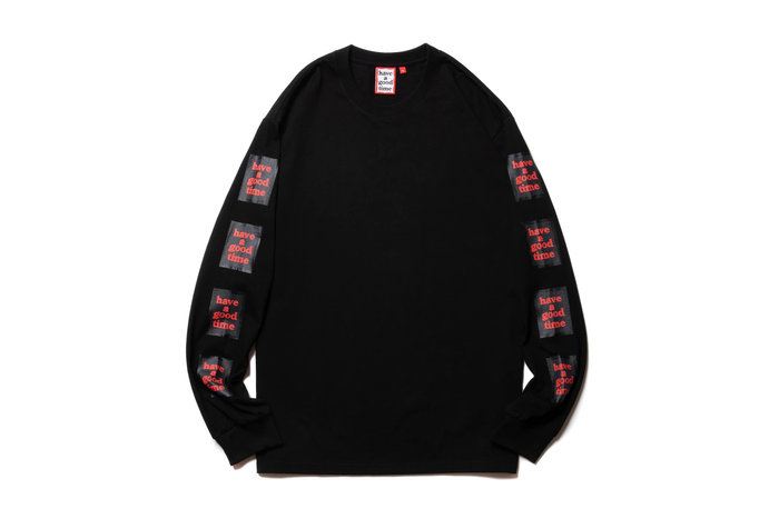 """[ LAB Taipei ] have a good time """" ARM BLACK FRAME L/S TEE """""""
