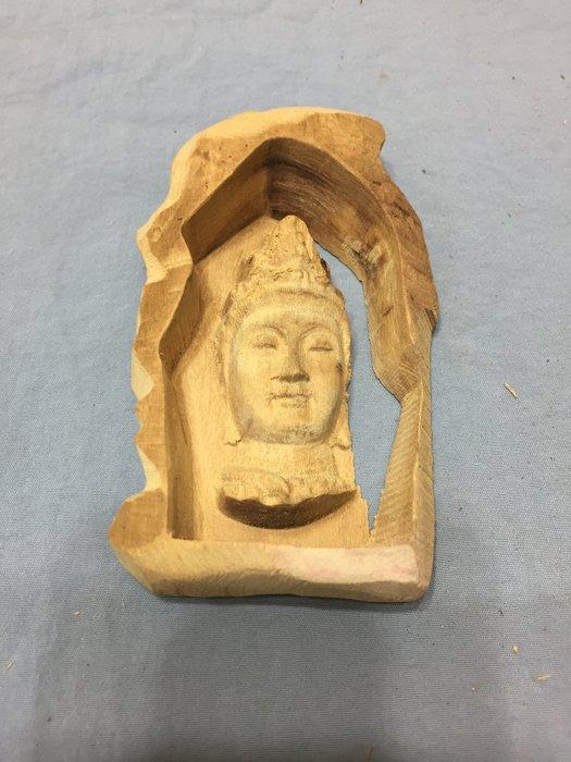 双茂藝品----檀香木雕觀音---#A0948