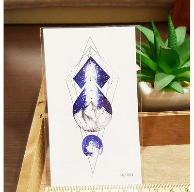 【萌古屋】夜空山峰 - 男女防水紋身貼紙原宿刺青貼紙 RC-504
