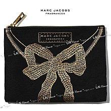 IN House* 香水贈品 黑底燙金色蝴蝶結 帆布 化妝包 手機包 零錢包 (盒裝)