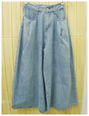 【姊的衣櫥】正韓*牛仔後鬆緊寬褲(深藍.淺藍) 現貨