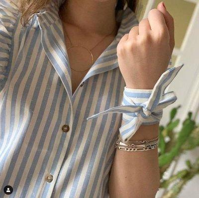 711017小飛袖條紋裇衫+手圈
