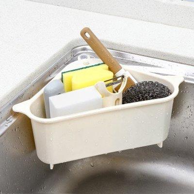 現貨 托盤 掛籃筐 瀝水籃  掛架 架子  免打孔  海綿 廚房 浴室 洗菜 ❃彩虹小舖❃ 【R25】水槽瀝水置物架