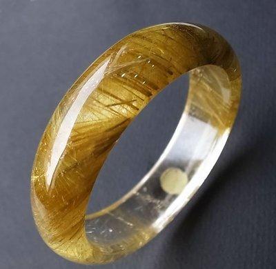 ☆采鑫天然寶石☆ **雙色金**特選雙色鈦晶手環/手鐲~19.8圍~厚實大器