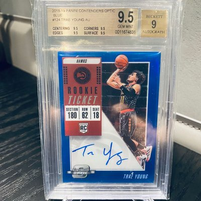 Trae Young 2018 Contenders Optic Auto Blue /99 BGS 9.5 球票 新人簽名 限量99張