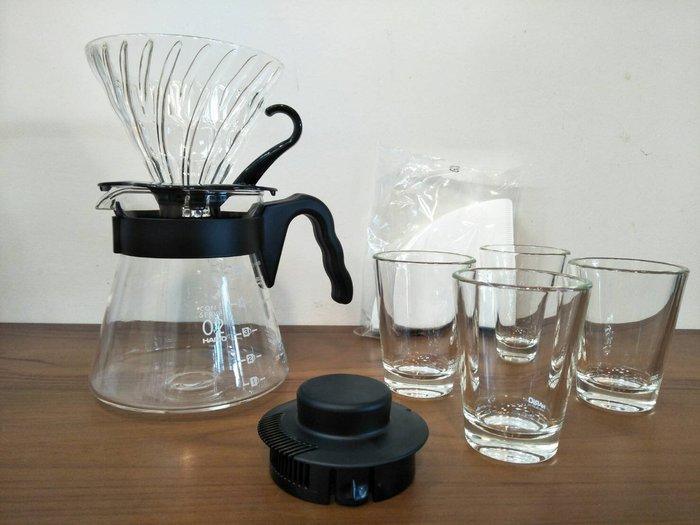 ~菓7漫5咖啡~日本 HARIO V60  咖啡02 手沖7件組合 1~4杯用  手沖 咖啡組合 VGSD-02B-EX