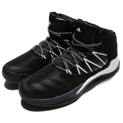 =CodE= ADIDAS INFILTRATE 透氣網皮革籃球鞋(黑白) BW1359 潑墨 耐磨 避震 高包覆性 男
