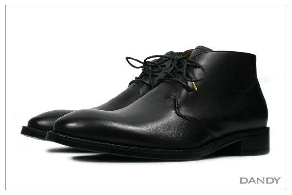 ├ DANDY ┤真牛皮手染燻舊德比短靴 ‧ 2018新款時尚黑色-DD001-3