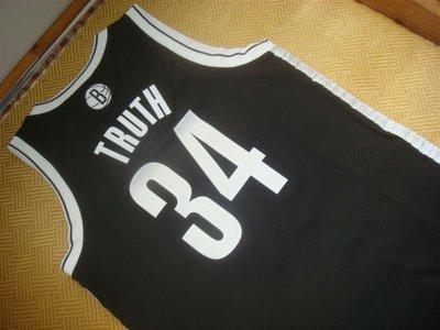 Adidas Swingman 布魯克林籃網 真理 Pierce 綽號球衣 黃金S號