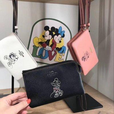 NaNa代購 COACH 30004 蔻馳&Disney系列手拿包 米奇零錢包 迪士尼系列 限量版 附購證 買即送禮