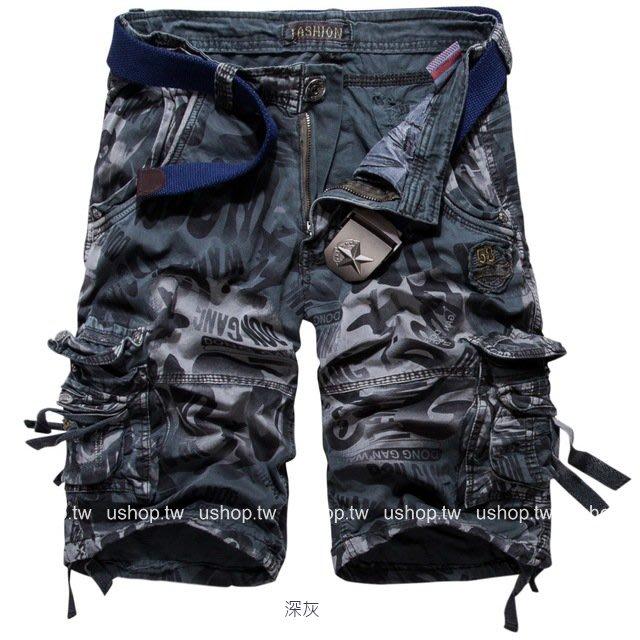 多口袋寬鬆新版型設計休閒褲