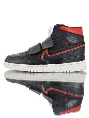 "Air Jordan 1 Retro High 魔術貼 休閑運動 籃球鞋""黑紅勾""Aq7924-016 男女鞋"