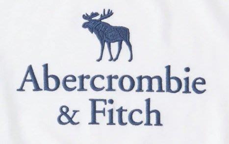 AF a&f abercrombie 麋鹿 大男童 車繡 麋鹿 長T 白色