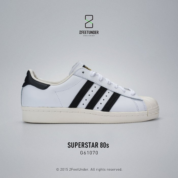 2FeetUnder - Adidas Originals Superstar 80s 金標 奶油底 G61070
