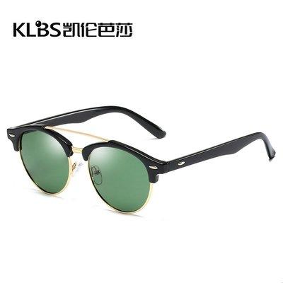 [凱倫芭莎]2003眼鏡鏡框墨鏡太陽眼鏡鏡片偏光太陽鏡復古米釘太陽眼鏡男女通用偏光鏡開車司機鏡批發MJ5275