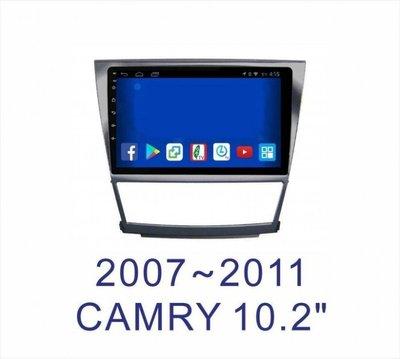 阿勇汽車影音 07~11年 6代6.5代 CAMRY 專車專用安卓機 10.2吋螢幕 台灣設計組裝系統穩定順暢 售服完善
