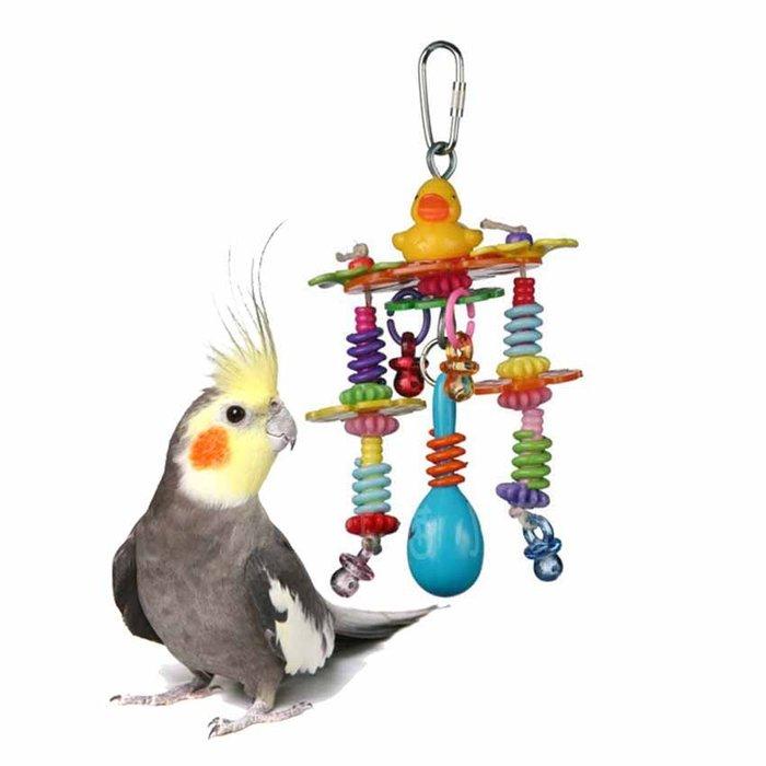 ☆汪喵小舖2店☆ 阿迷購鳥用玩具-彈簧小鴨 // 適合中小型鸚鵡