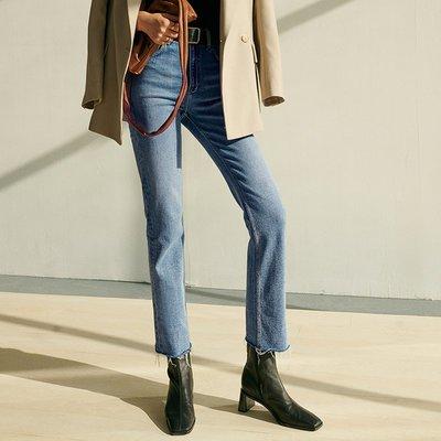 oops market韓國女裝 墻裂推薦美藍色 隱形褲W軟Q彈不像牛仔褲的牛仔 顯腿直N31304預