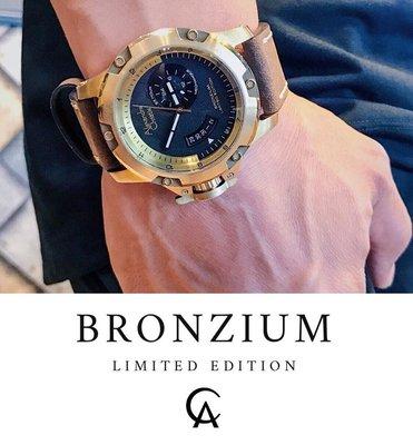 【金台鐘錶】Alexandre Christie 「限量青銅錶」錶徑48mm (6481 MALGPBA)