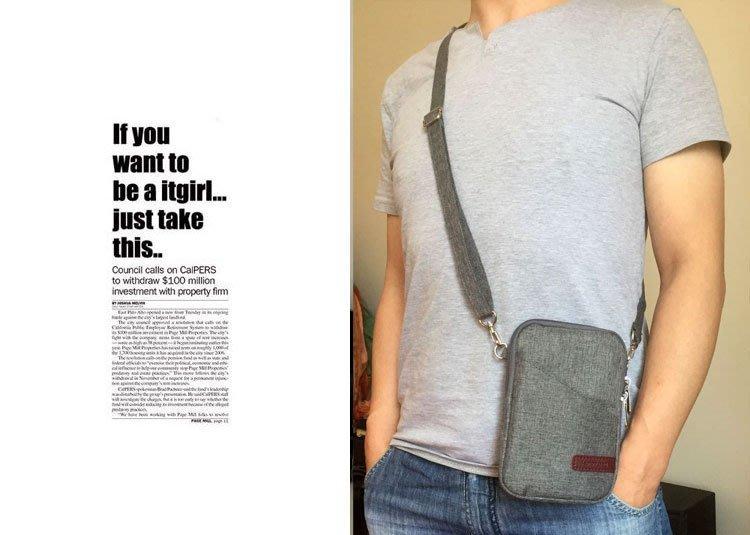 【GooMea】3免運 ASUS華碩ZenFone 6 (A601CG) 拉鍊款 亞麻布 手拿袋 手機套 手拿頸掛 灰色