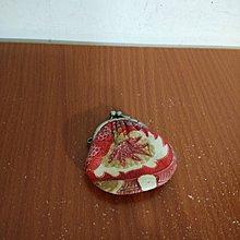 日本 真皮 楓葉圖案 口金包 零錢包