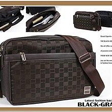 黑葡萄【S1335】日系經典格紋時尚側背包/斜背包-質感系列