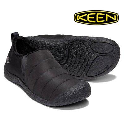 =CodE= KEEN HOWSER II 針織尼龍懶人休閒鞋(全黑) 1019616 禦寒 機能 包頭 黑魂 男